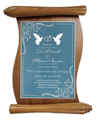Image de Plaque honorifique parchemin